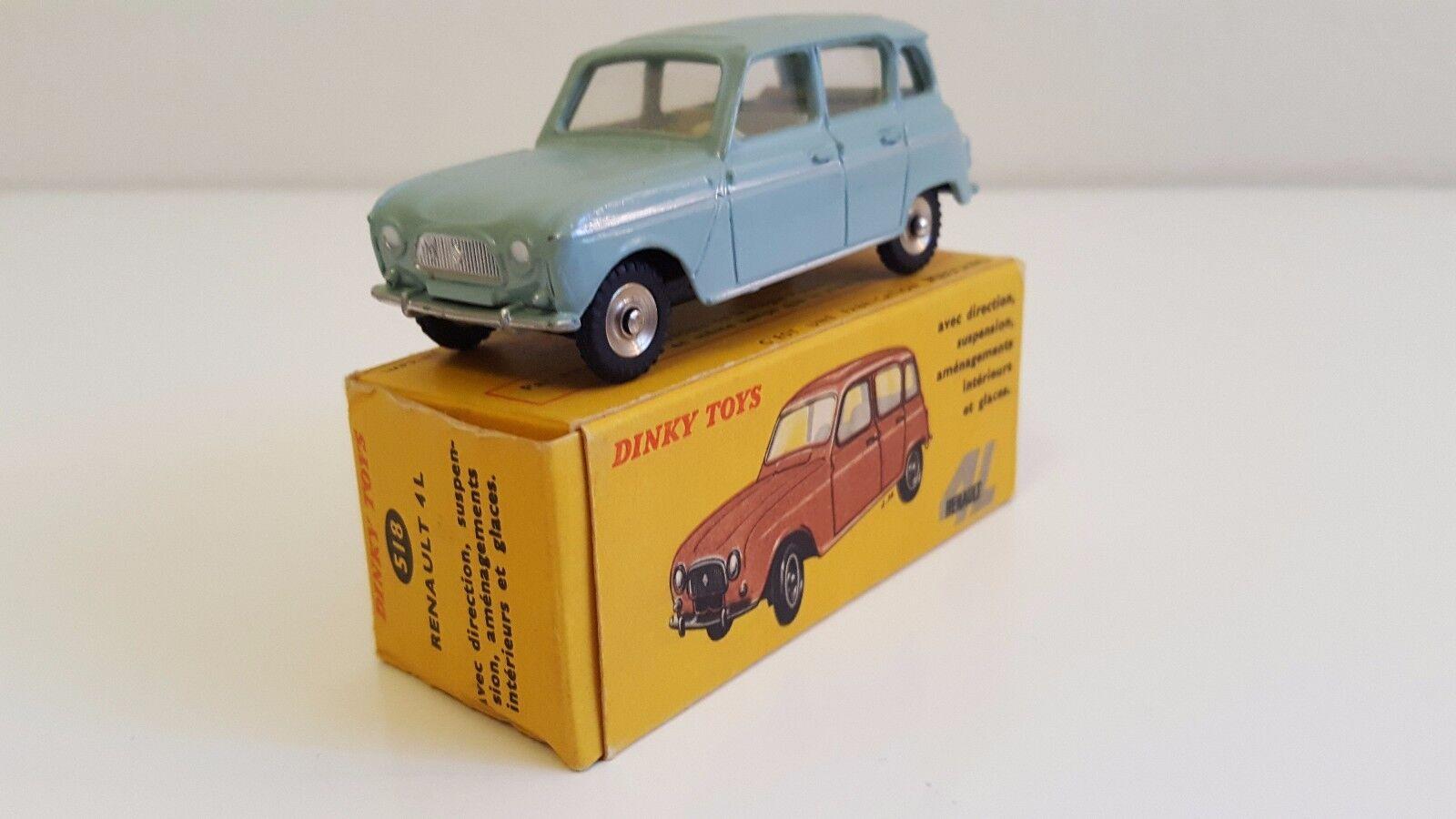Dinky Toys - 518   Renault 4 L en boîte d'origine (Immat. AR décentrée) VN Mib