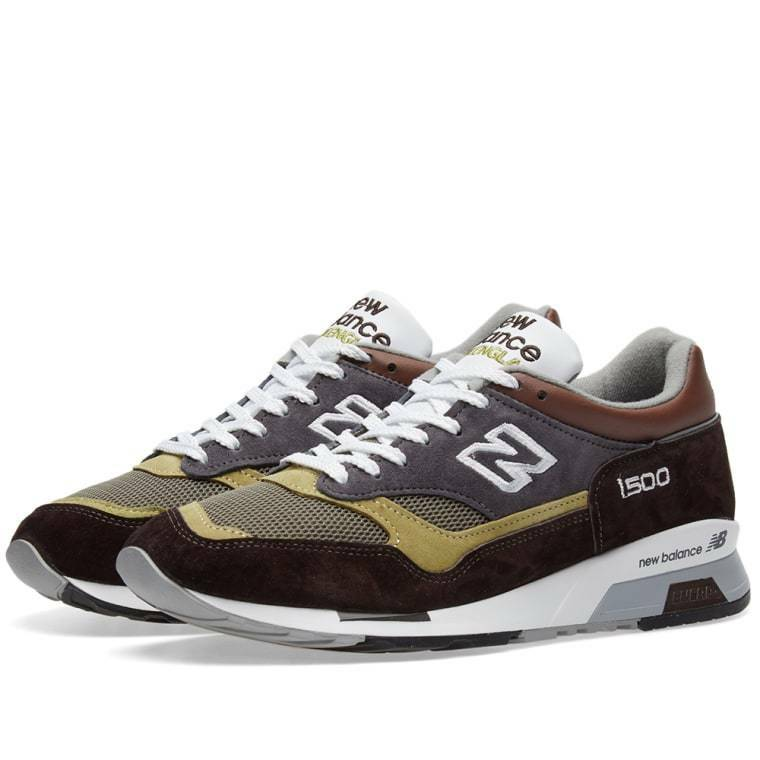 Homme New Balance 1500 BGG Baskets UK Taille 10 // gris marron vert made in UK