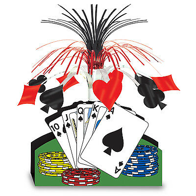Casino PLAYING CARD CENTERPIECE Party Decoration POKER Game Night