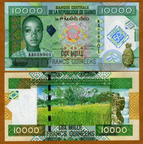 P-New UNC /> Commemorative 2010 Guinea 10000 10,000