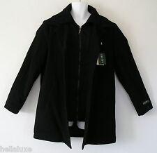 ~Ralph Lauren BIB LAYER WOOL COAT sweat shirt DUAL COLLAR Winter Jacket~Mens 42R