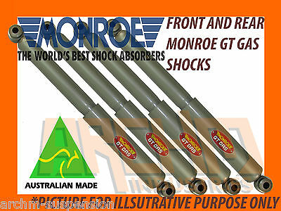 FRONT & REAR MONROE GT GAS SHOCK ABSORBERS TO SUIT NISSAN NAVARA D21 UTE/4WD