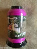 Brownell Dacron Bow String Material B-50 1/4 Pound Flo Purple Color For 2015