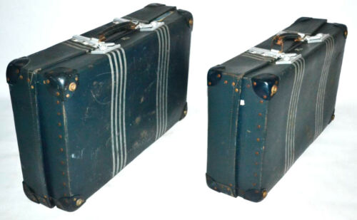 A pair of Vintage 1940's REVELATION London Expanding Suitcases Trunks PL3029