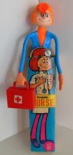 Vintage Nurse Bendy Toy 9 inch Hong Kong Original Package No.962 Doctor Bag