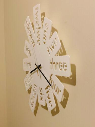 Wall Clock Modern Australian Made Wooden Acrylic Number Design