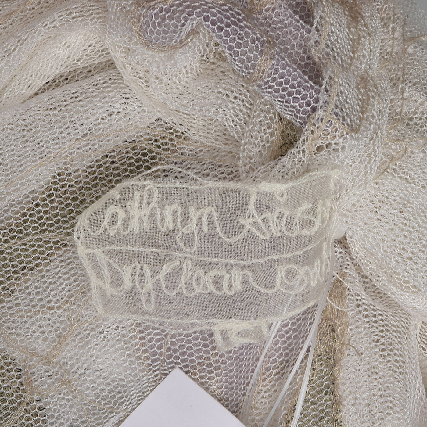 XS Floral Cardigan VTG Cathryn Avison Purple Purple Purple Flower Embroidery Summer Mesh Top 164455