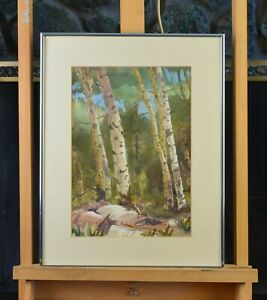 Watercolor-Painting-Hart-Prairie-Aspen-Grove-Flagstaff-AZ-Tom-Ward-1989