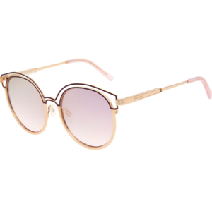 HOOK LDN Sunglasses Gold Frame with Pink Lens Womens RRP £95