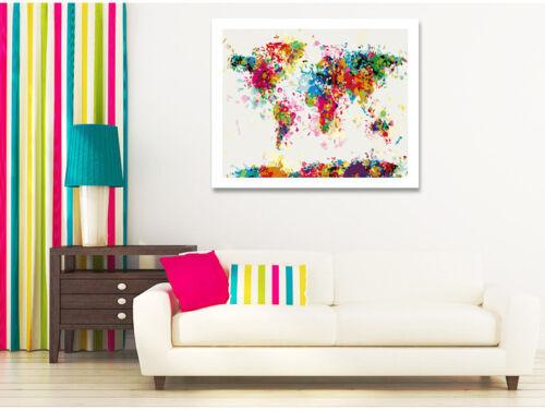 Malen nach Zahlen Weltkarte bunt 40x50cm