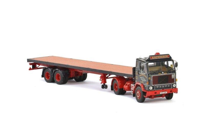 1 50 Scale WSI 01-2122 Volvo F88& Flatbed Trailer - Alex Anderson - BNIB