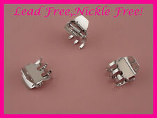 "20PCS Silver 2.35/"" S shape double bars metal hair barrette,nickle free,lead free"