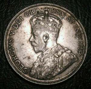 OLD-CANADIAN-COINS-1936-KEY-DATE-CANADA-FIFTY-CENTS-50-c