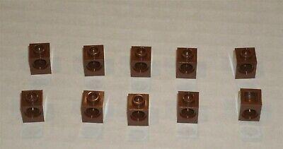 10x LEGO NEW 1x1 Reddish Brown Technic Brick Hole 4620075 4528461 Brick 6541