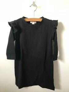 NWT-J-Crew-Crewcuts-Everyday-Toddler-Girls-Black-Ruffle-Dress-Size-3T