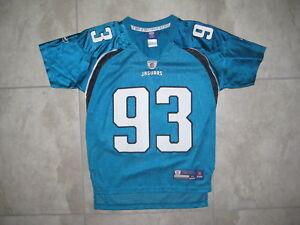 new products b9c09 7788c Details about Reebok NFL Jacksonville Jaguars Tyson Alualu 93 FOotball  Jersey USED Womens XXS