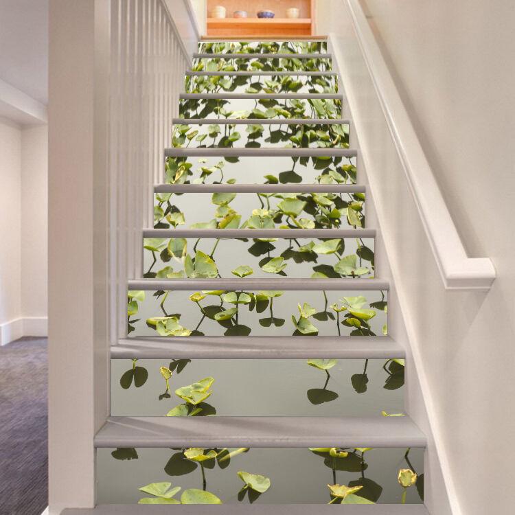 3D Teich Gras 3476 Stair Risers Dekoration Fototapete Vinyl Aufkleber Tapete DE