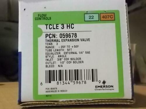 EMERSON TCLE3HC//059678 3 TON THERMAL EXPANSION VALVE R-22//R407C 173456