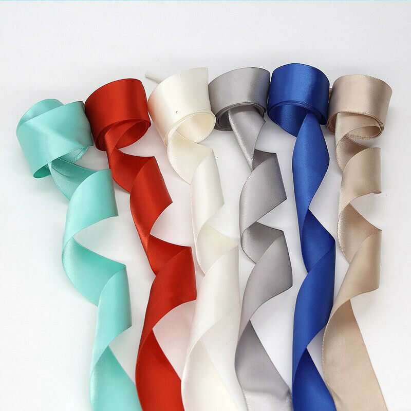 Colorful Double Side Ribbon Shoelace Satin Smooth Silk Bowknot Shoe Laces 120cm