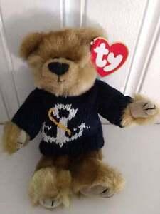804a5e4792d TY Beanie Attic Treasures ~ SALTY Bear ~ NWT Retired Articulated ...