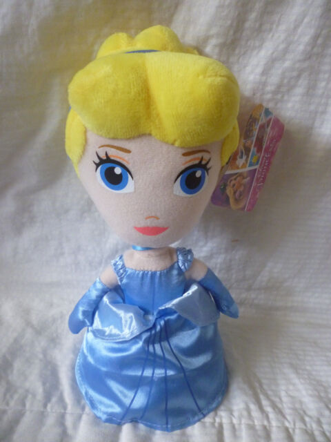 DISNEY PRINCESS - CINDERELLA Plush Soft Doll Toy Licensed 18cm tall BRAND NEW