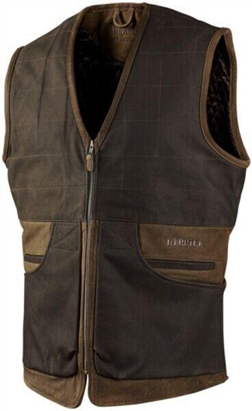 Harkila Angus Waistcoat Gilet Leather Smart Country Hunting Shooting