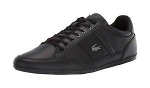 Lacoste-Men-039-s-Chaymon-BL-1-Synthetic-Leather-Shoes-7-37CMA009402H-Black