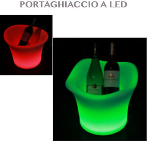 Secchiello portaghiaccio a led rgb cestello ghiaccio porta - Portaghiaccio per bottiglie ...