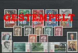 Allemagne-Berlin-Vintage-Yearset-1972-Timbres-Used-Complet-Plus-Sh-Boutique