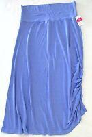 FRESH PRODUCE Large PERI Blue WATERFALL Stretch Knit Skirt NWT New Lrg L