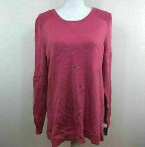 Karen-Scott-Womens-Sweater-Crewneck-Pink-Sz-Large