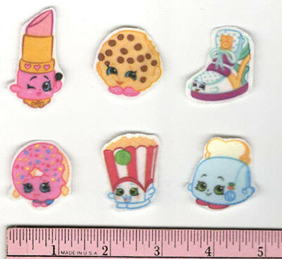 SHOPKINS energetic D/'LISH DONUT fabric iron-on applique NO SEW grocery pal