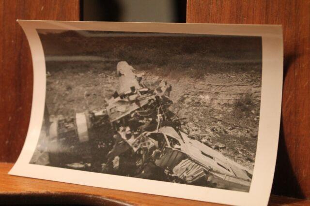 WWII ca.1944 Photo 3.25x4.5 Crashed Japanese Mitsubishi Fighter Plane