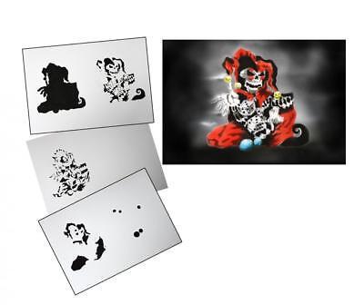 Step by Step Airbrush Stencil AS-145 ~ Stencils ~ UMR-Design