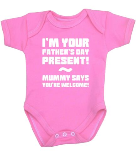 BabyPrem Baby Clothes FATHERS DAY Gift Present Bodysuit Top One-Piece NB-12m