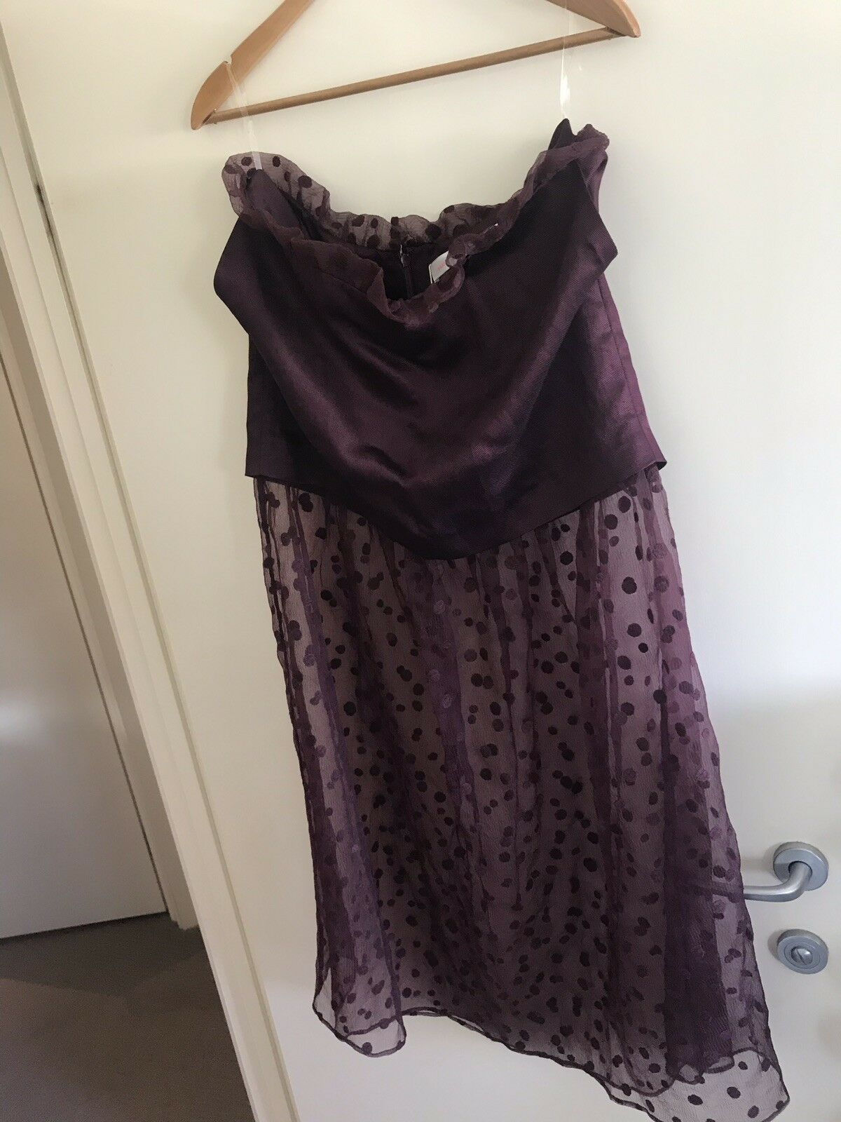 Sass And Bide The After Glow Burgundy OXBLD Long Skirt Size 42-12