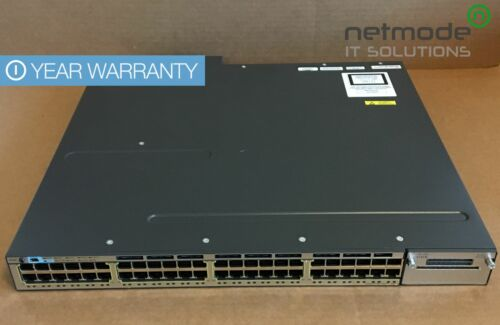 Cisco WS-C3750X-48PF-S Gigabit PoE Switch IP Base 3750X Dual 1100 AC PWR