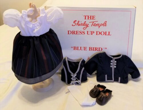 Shirley Temple Dress Up BLUE BIRD Outfit COMPLETE w//Brown Shoes NEW in Orig Box!