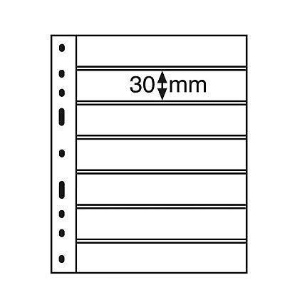 Album sheets OPTIMA 1S Leuchtturm 326667 Black Album Sheets Collect Banknote