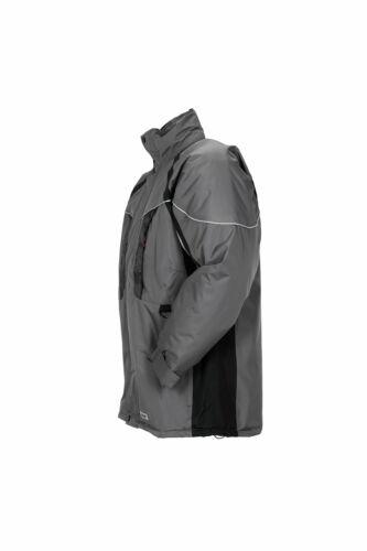 Planam Outdoor Winter Herren Space Parka grau schwarz hellgrau Modell 3350