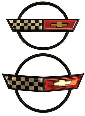 1984-1990 Chevrolet Corvette C4 Emblem Set Front Bumper & Rear Gas Door Kit