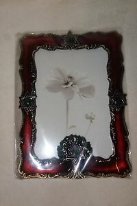Taylor-Avedon-collectible-Enamel-bronze-red-Photo-Picture-Frame-new-box