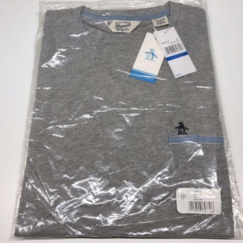 Xl Logo uomo grigio girocollo Pinguino manica Bnwt Maglietta corta blu da Marl originale t4HwqB