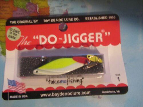 Bay De Noc Size 1 The Do Jigger Glows Yellow Glo 1//6 Oz Spin Cast Troll Jig!!!