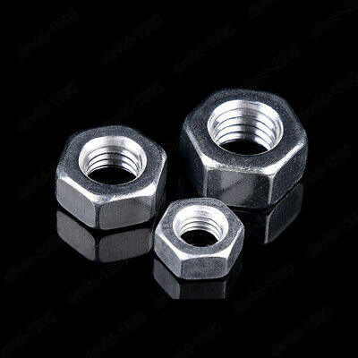 M2 M2.5 M3 M4 M5 M8 M10 M12 M16 M20 6061 Aluminum alloy Hex Nuts Hexagon nut