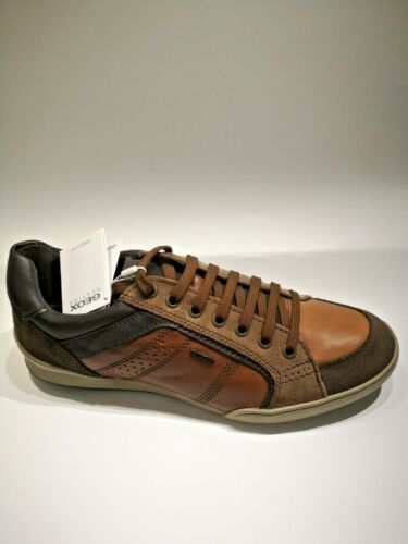 GEOX Basket Kristoff cuir brown NEUVES Valeur 120E Pointures 42,43,,45