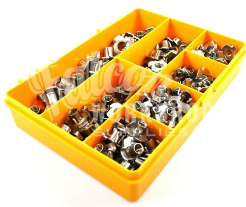 50 ASSORTED A2 STAINLESS M5 M6 M8 M10 TEE NUTS, DRIVE IN, CAPTIVE T NUT KIT