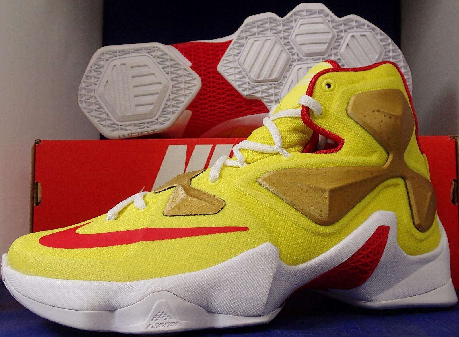 Nike Lebron XIII 13 iD University Gold Red SZ US 8.5 7 / Womens SZ 8.5 US (836141-992) 6d7ced