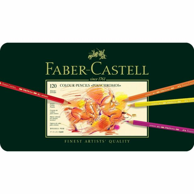 FABER CASTELL  POLYCHROMOS  COLOUR PENCILS - 120 TIN SET  RRP £249.99