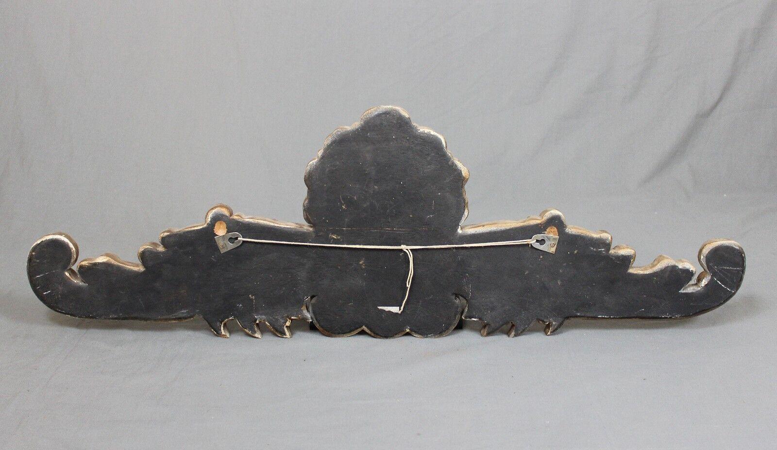 Vintage décoratif sculpté sculpté sculpté Gilt Wood Wall Hanging | Impeccable  | Structurels élégantes  | Pas Cher  67267f